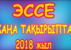 Қазақ тілі және әдебиетінен эссе тақырыптары — 2018