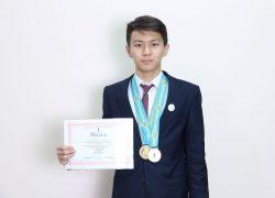 Халықаралық олимпиада Дияр Төленов үшінші жыл қатарынан алтын медаль иеленді